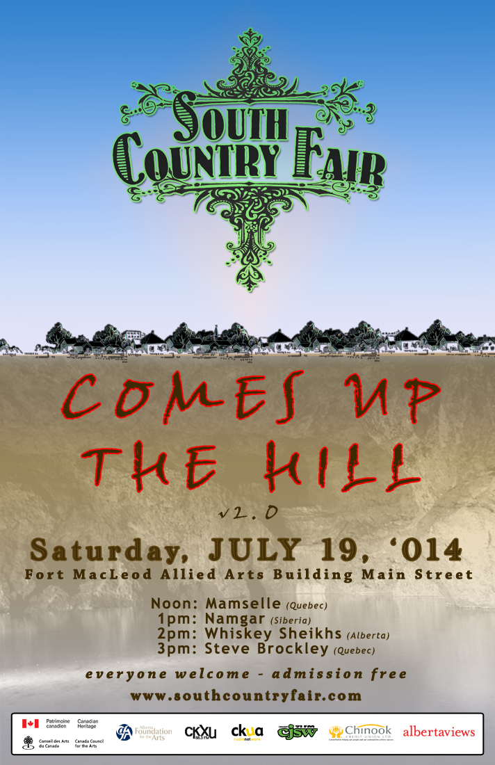 SCF Comes Up The Hill poster 2014