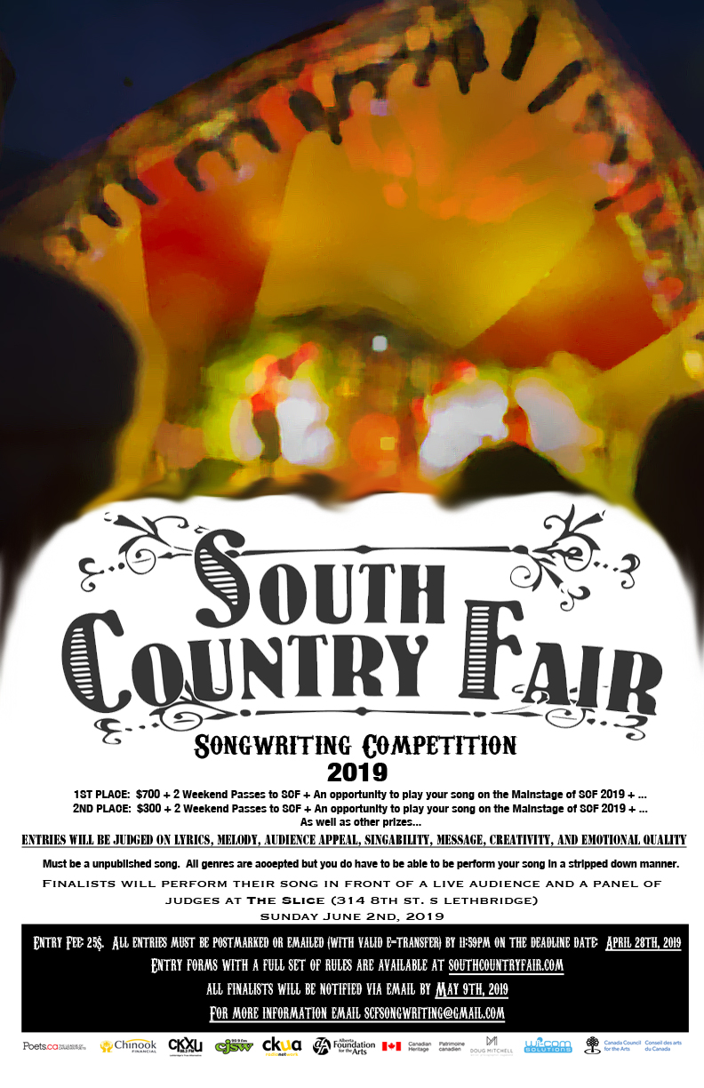 South Country Fair SONGWRITING COMPETITION 2019